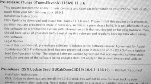 OS X 10.9.3 pre-release
