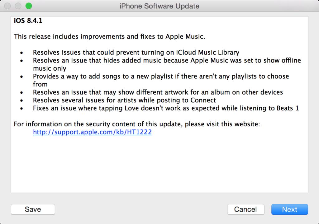 Apple ปล่อย iOS 8 4 1 แก้บักต่าง ๆ ใน Apple Music (Download