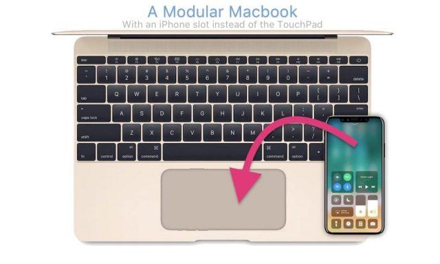 Modular MacBook แม็คบุ๊คขุมพลังไอโฟน